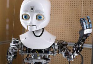 Roboten Nexi, från Tekniska museets pågående robotutställning